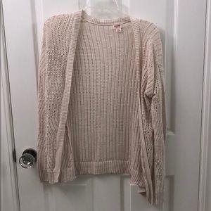 Mossimo Supply Co crochet long sweater